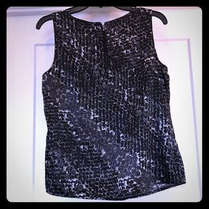 Black and gray sleeveless top